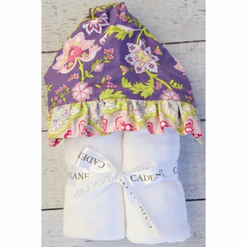Caden Lane Hooded Towel - Purple Garden  (Limited Edition)