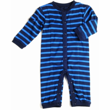 EGG Jersey Boy Romper in Navy Stripes - 3 to 6 Months