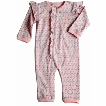 EGG Jersey Girl Ruffle Romper in Pink - 0 to 3 Months