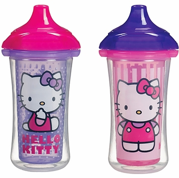 Munchkin Click Lock 9oz Insulated Sippy Cups - 2pk- Hello Kitty