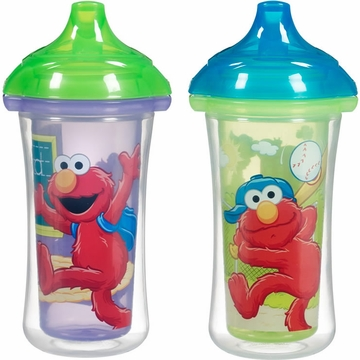 Munchkin Click Lock 9oz Insulated Sippy Cups - 2pk- Sesame Street
