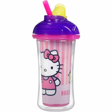 Munchkin Click Lock 9oz Insulated Straw Cup - Hello Kitty (Colors May Vary)