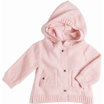 EGG Knit Hooded Cardigan in Pink - 3 to 6 Months