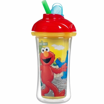 Munchkin Click Lock 9oz Insulated Straw Cup - Sesame Street (Colors May Vary)