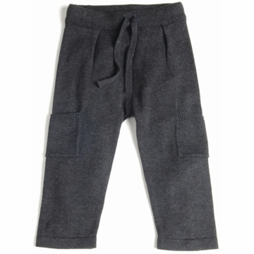 EGG Knit Pants with Side Pocket in Flint - 12 to 18 Months