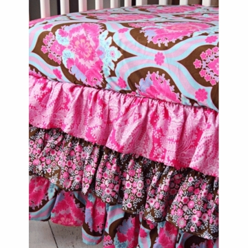 Caden Lane Pink Truffle 2 Piece Crib Bedding Set (Limited Edition)
