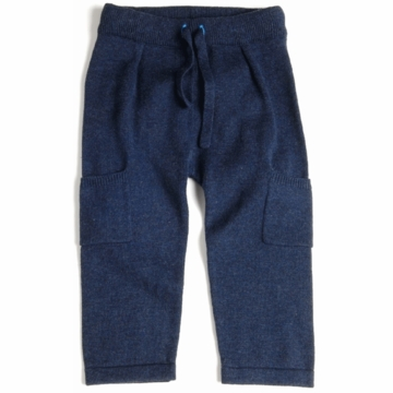 EGG Knit Pants with Side Pocket in Navy - 6 to 12 Months