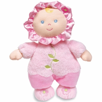 "Kids Preferred 9"" Flower Rattle Baby Doll"