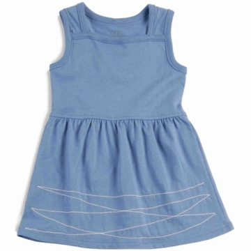 EGG 100% Organic Basic Dress in Pacific - 6 to 12 Months