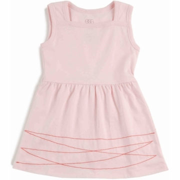 EGG 100% Organic Basic Dress in Pink - 6 to 12 Months