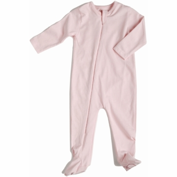 EGG 100% Organic Basic Footie in Pink - 12 to 18 Months