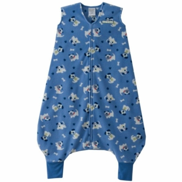 Halo Micro-Fleece Early Walker SleepSack Wearable Blanket in Blue Pup Pals - Large