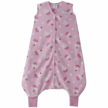Halo Micro-Fleece Early Walker SleepSack Wearable Blanket in Pink Cupcake - Large