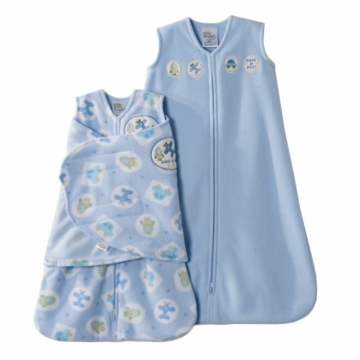 Halo SleepSack 2PC Micro-Fleece Gift Set, Blue, Small