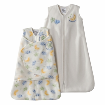 Halo SleepSack 2PC Micro-Fleece Gift Set, Cream, Small