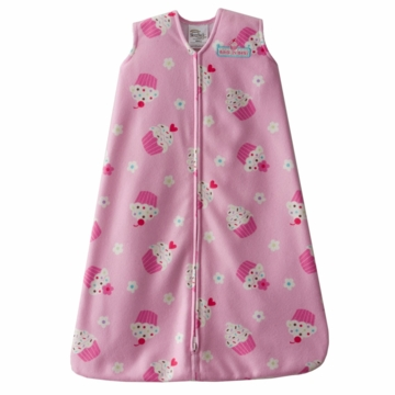 Halo SleepSack Micro-Fleece Wearable Blanket, Pink Cupcake, Large