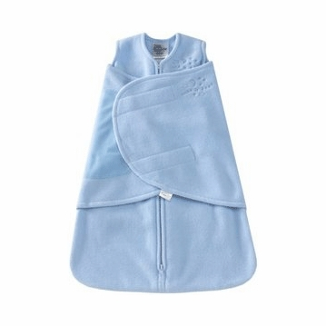 Halo Micro-Fleece SleepSack Swaddle in Baby Blue - Preemie