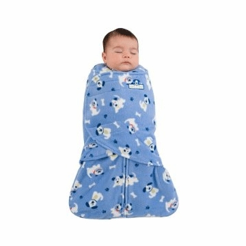 Halo Micro-Fleece SleepSack Swaddle in Blue Pup Pals - Newborn