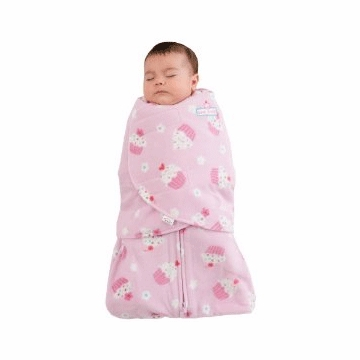Halo Micro-Fleece SleepSack Swaddle in Pink Cupcake - Newborn
