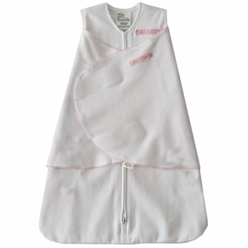 Halo SleepSack Swaddle, Pink Pin Dot, Newborn