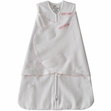 Halo 100% Cotton SleepSack Swaddle in Pink Pin Dot - Small