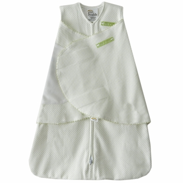 Halo SleepSack Swaddle, Sage Pin Dot, Newborn