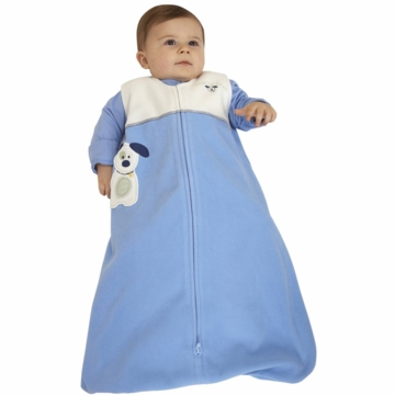 Halo Micro-Fleece Applique SleepSack Wearable Blanket in Blue Pup Pals - Medium