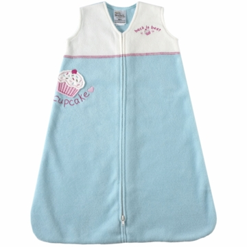 Halo Micro-Fleece Applique SleepSack Wearable Blanket in Turquoise Cupcake - Large