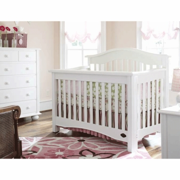 Bonavita Lifestyle Hudson 3 Piece Nursery Set in Classic White - Crib, Double Dresser & 5 Drawer Dresser