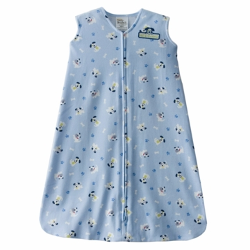 Halo SleepSack Wearable Blanket, Blue Pup Pals, Medium