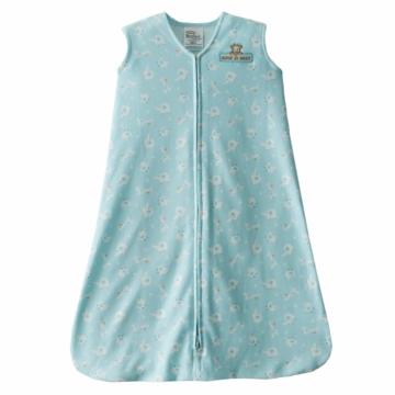 Halo SleepSack Wearable Blanket, Turquoise Animal Friends, Large