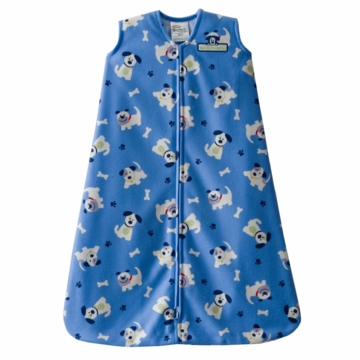 Halo SleepSack Micro-Fleece Wearable Blanket, Blue Pup Pals, Large