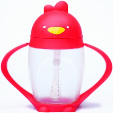 Lollacup Infant & Toddler Straw Cup - Red