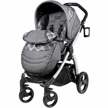 Peg Perego Book Plus Stroller in Pois Grey