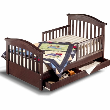 Sorelle Joel Solid Pine Toddler Bed - Espresso