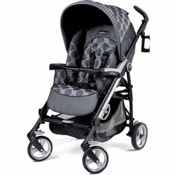 Peg Perego Pliko Four Stroller in Pois Grey