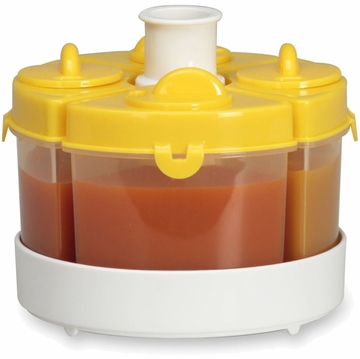 Baby Brezza Quattro 4PC Storage System - Yellow