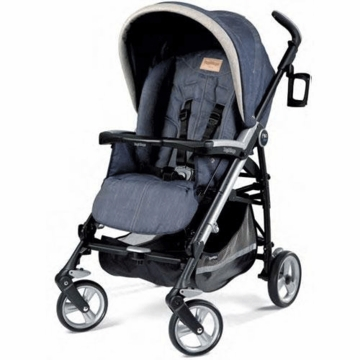 Peg Perego Pliko Four Stroller in Denim