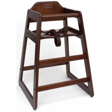 Lipper International 516WN High Chair in Walnut