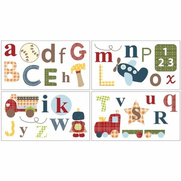 CoCaLo A to Z Boy Removable Wall Appliques
