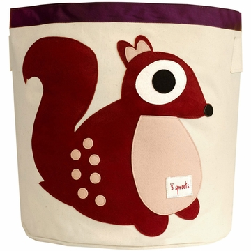 3 Sprouts Storage Bin in Squirrel