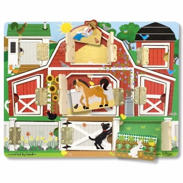 Melissa & Doug Magnetic Farm Hide & Seek Board