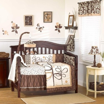 CoCaLo Pewter 4-Piece Crib Set