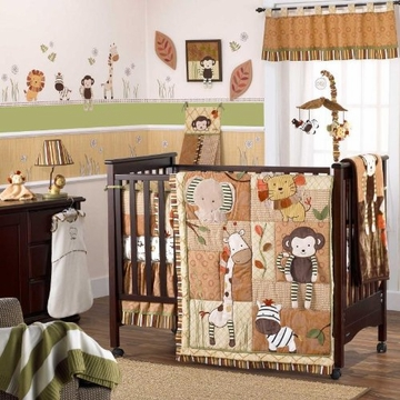 CoCaLo Nali Jungle Crib Bumper