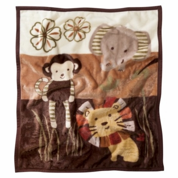 CoCaLo Nali Jungle Soft & Cozy Blanket