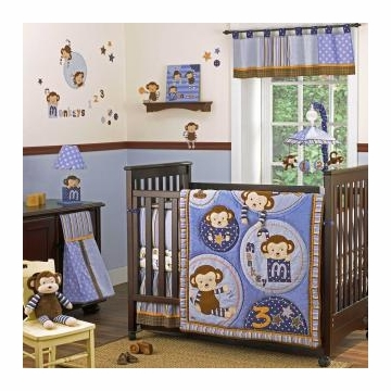 CoCaLo Monkey Mania 8-Piece Crib Set