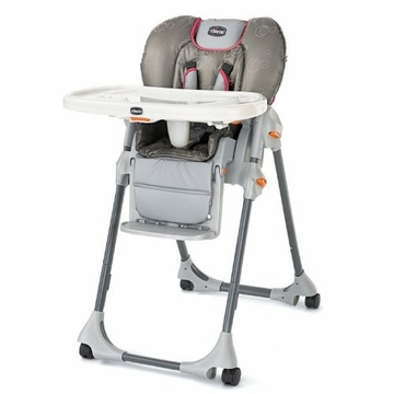 Chicco Polly Double-Pad High Chair in Foxy