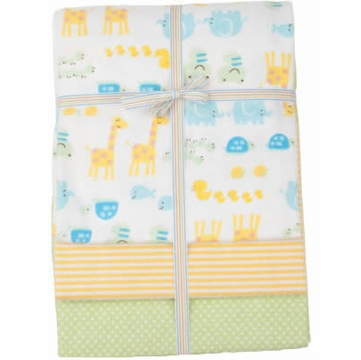 Carter's 3-Pack Wrap-Me-Up Receiving Blankets - Zoo