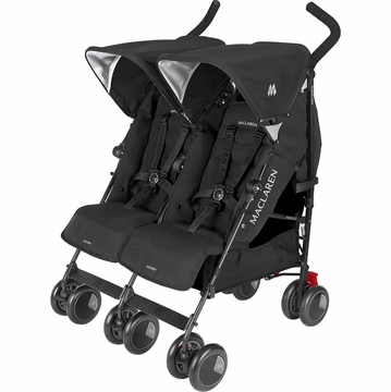 Maclaren Twin Techno Double Stroller - Black
