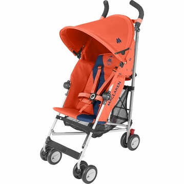 Maclaren Triumph Stroller - Burnt Orange/Medieval Blue